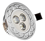 3 W 3 High Power LED 285 LM Cool White Recessed Lights AC 85-265 V