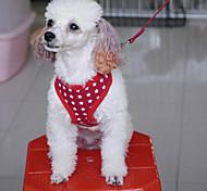 Dog Harness LED Lights Red / Black / Blue / Rose Textile