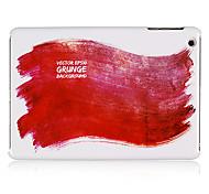 rouge peinture modèle en plastique cas pour Mini iPad 3, iPad Mini 2, Mini iPad
