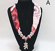 pendentif en métal mousseline écharpe des femmes (12 pcs, couleur différente mixte à vendre)