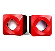 SENIC SN-430i Tragbare Cool-Design-Mini-Lautsprecher für Laptops / PC (1 Paar) Optional Farben