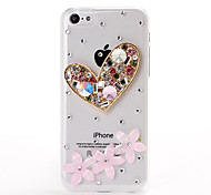DIY 3D Heart and Flowers Pattern Plastic Hard Case for iPhone 5C