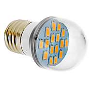 E26/E27 8W 16 SMD 5630 650 LM Warm White LED Globe Bulbs V