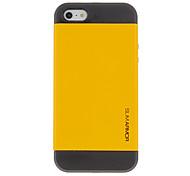 Diseño simple 2-in-1 Case Mental con cubierta interior de silicona para el iPhone 5/5S (colores surtidos)