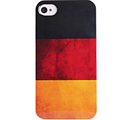 bandeira alemão abs de volta caso para iphone 4/4s