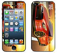 brillante color stick película protectora por ti mismo para iphone5/5s