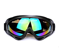 Motorcycle Goggles Skiing Glasses with Black Frame and One Colorful Lens