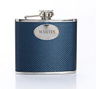 Motif cadeau personnalisé tissé bleu 5 onces cuir PU majuscules Flacon