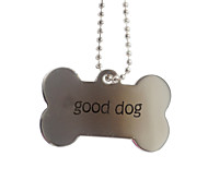 Personalized Gift Bone Shape Pet Id Name Tag with Chain  for Dogs