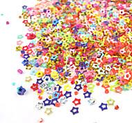 1PCS Box Hollow Colorful stella a cinque punte decorazione Nail Art