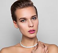 Aleación preciosa con diamantes de imitación collar de la boda nupcial
