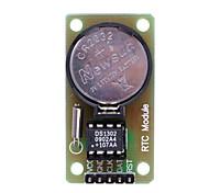 Tiempo real DS1302 Módulo de reloj con el botón CR2032 célula - Negro + Verde