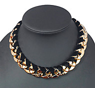 Shixin® Vintage Golden Acrylic Choker Necklace(Golden) (1 Pc)