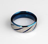 Alliage Bleu Bague de femmes de mode (bleu) (1 PC)