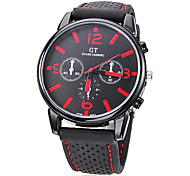 Men's Watch Dress Watch Casual Watch Silicone Strap Wrist Watch Cool Watch Unique Watch