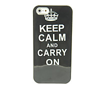 """Keep Calm and Carry On"" Pattern IMD Craft TPU Case for iPhone 5/5S"