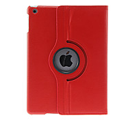 360 Degree Rotating Lichee Print Pattern PU Full Body Case with Stand for iPad Air (Assorted Colors)