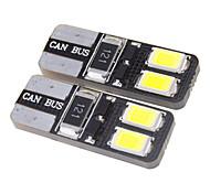 T10 1.5W 27LM 4x5730SMD 5500-6000K refrescan la lámpara blanca del LED para el coche (12V)