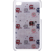 Cartoon Style Lovely Stupor Owl Pattern Epoxy Hard Case for iPod Touch 4