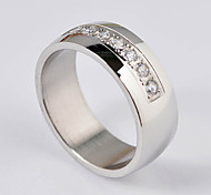 Romantic Wedding Ring Silver Fashion Stainless Steel Lover'S Rings