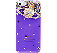 Luxury Design Golden Saturn Pattern with Diamond Hard Case for iPhone 5/5S (Assorted Colors)