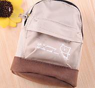 Mini fivela de montanhismo Escola Bag Porta-moeda (bege)