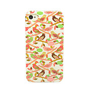 Singing Birds on the Trees Pattern IMD Craft TPU Case for iPhone 4/4S