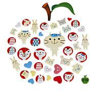 Cute Plastic DIY Jigsaw Stickers (Random Color)