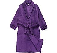 Банный халат, велюровый фиолетовый Твердое Цвет одежды - 2 Имеющийся размер