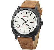 Men's Watch Military Fashion Dial Leather Band