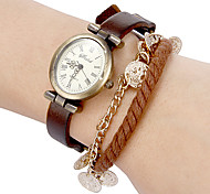 Women's Vintage Dial Pu Band Quartz Analog Bracelet Watch (Assorted Colors) Cool Watches Unique Watches