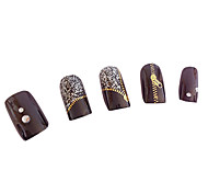 Impression de transfert 1PCS or Zipper Motif de l'eau Nail Sticker Colorful
