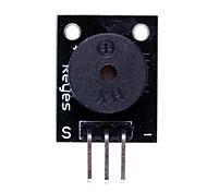 Compatible Passive Speaker Buzzer Module for Arduino- Black