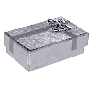Sweet Silver Paper Jewelry Box For Jewelry Set(Necklace & Earrings & Ring) (Silver)(1 Pc)