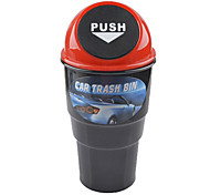 Push Open Garbage Trash Can Bin for Cars