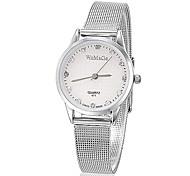 Mulheres Relógio Elegante Quartzo Lega Banda Prata