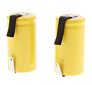 ML Ni-Cd 2500mAh Rechargeable Battery (1.2V, Yellow, 2pcs)