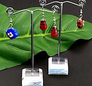 1 juego (3 piezas) Soporte de plástico colgante de joyería del metal de pantalla