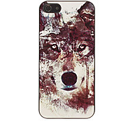 Stylish Lion Face Pattern Smooth Hard Case for iPhone 5/5S