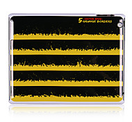 Caisse arrière de plastique les rayures noir et jaune pour l'iPad 2/3/4
