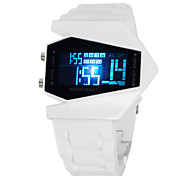 Men's Watch Sports Stealth Aircraft Style LED Silicone Strap