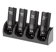 4 em 1 estação de carregamento + 4 baterias para Nintendo Wii