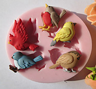 Cinque Uccelli silicone Cioccolato / fondente / Zucchero Mold