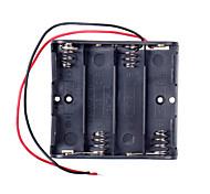 Supporto caso di batteria 4 x AA con cavi per (per arduino) - nero