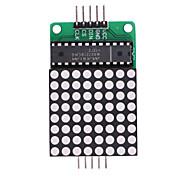 MAX7219 LED Red Dot Matrix Módulo Módulo de Controle de MCU - verde + branco