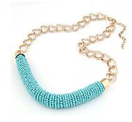 Frauen Bunte Knit Halskette