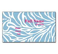 200pcs Personalized 2 Sides Printed Matte Film Zebra Pattern Business Card