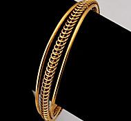 u7® brazaletes del manguito de la vendimia oro 18k plateó brazaletes de puño de alta calidad de la joyería joyería de moda