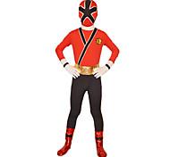 Cosplay Costume/Zentai Suit Power Super Hero Rangers Samurai Red Lycra Full Body Kids' Zentai