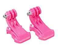 2X Vertikale Oberflächen J-Haken-Schnalle für GoPro Hero3 und 2 (Pink)